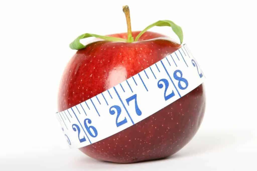 measured apple