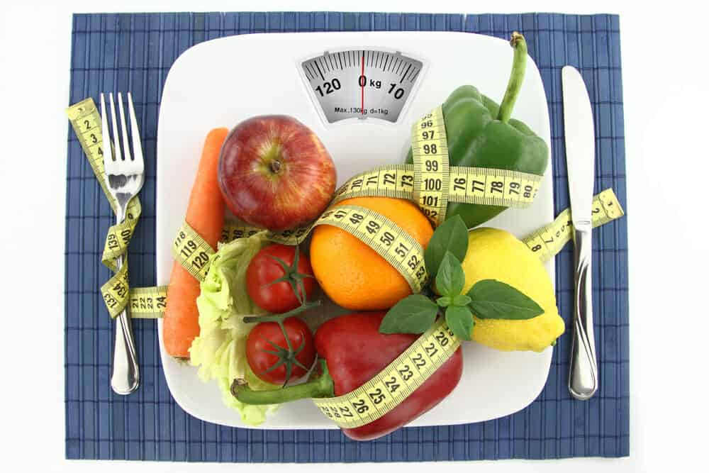 Grönsaker och frukt på din tallrik med en centimeter